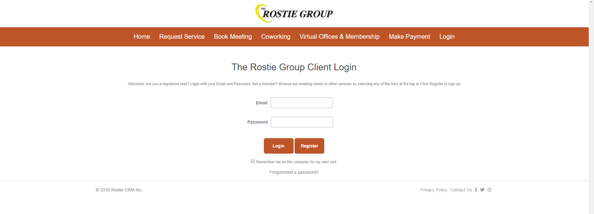 Rostie Group Online Booking Portal