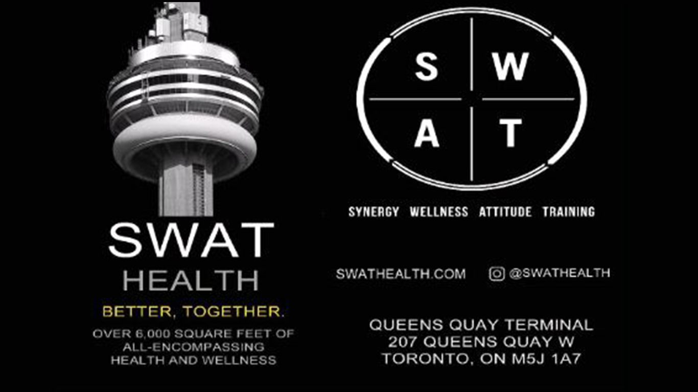 Winter Rostie Group Scoop SWAT Gym Advertisement