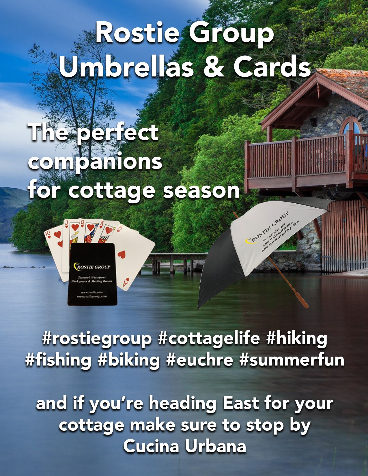 Rostie Group Umbrella and Cards