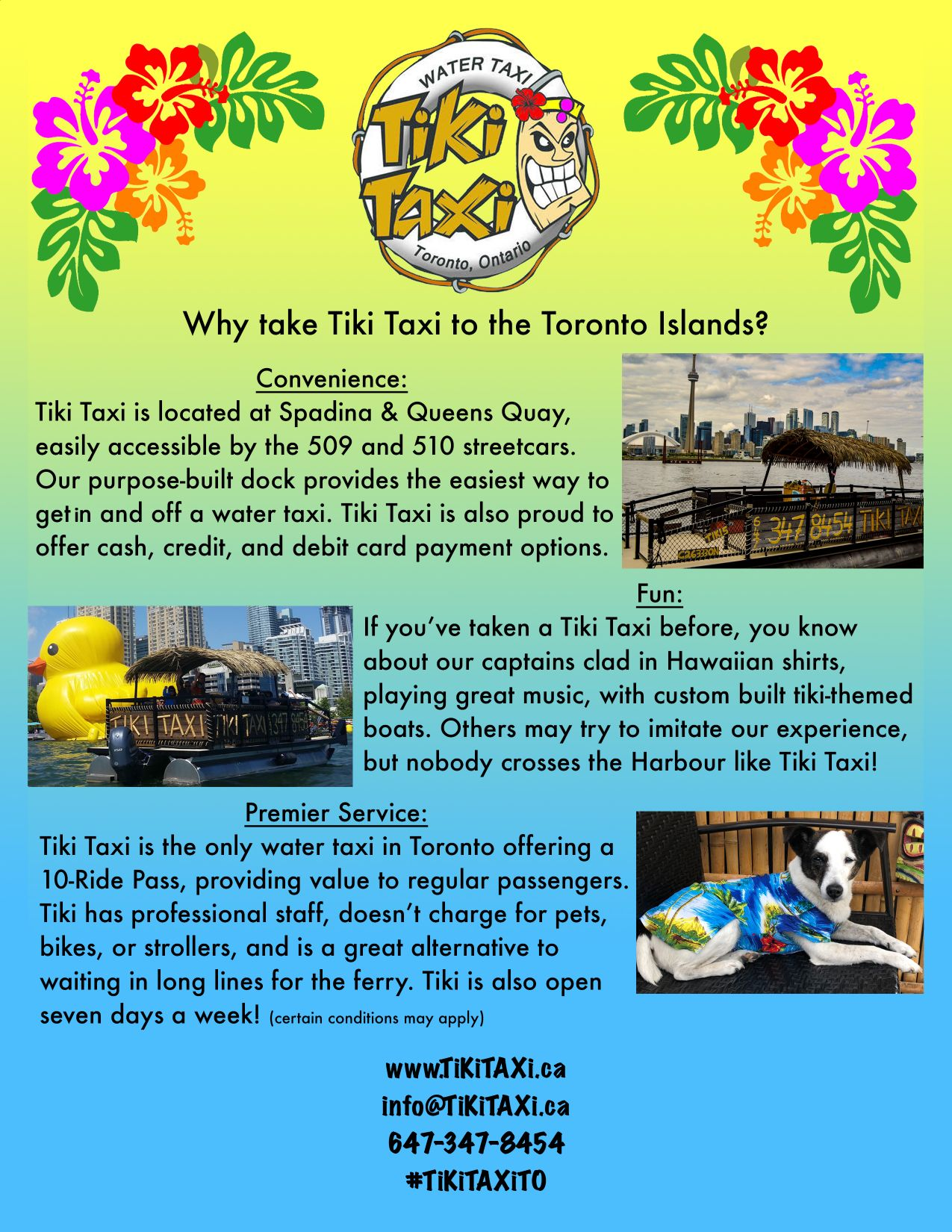 Tiki Taxi The Scoop Advertisement
