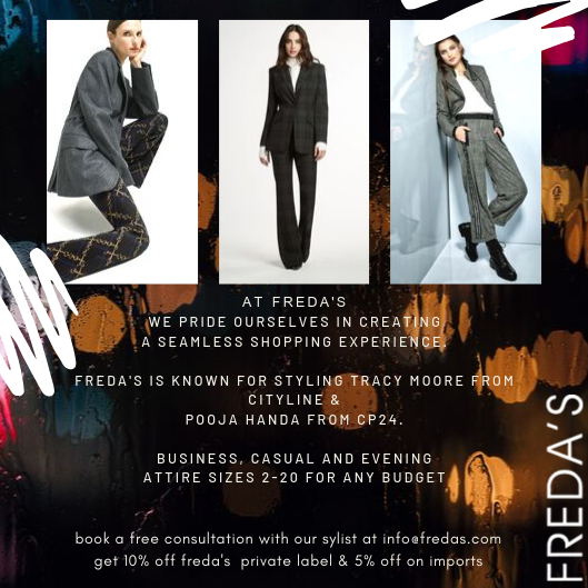 Freda's Fall Fashion Rostie Group Scoop Ad