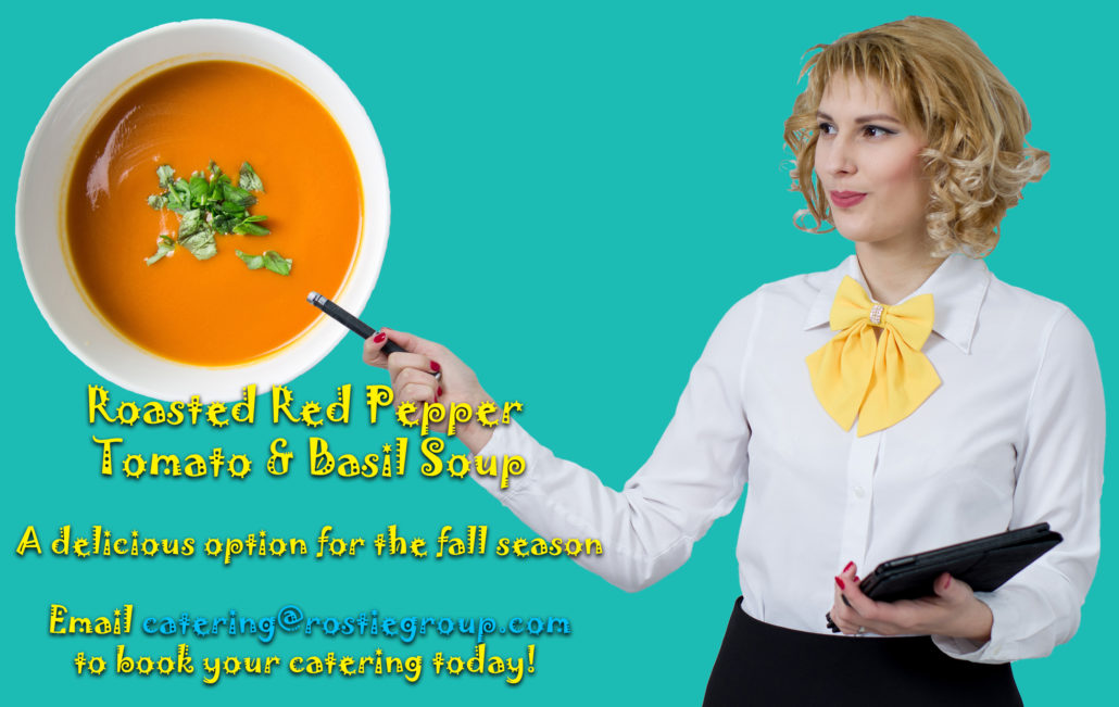 Rostie Group Catering Red Pepper Soup Ad