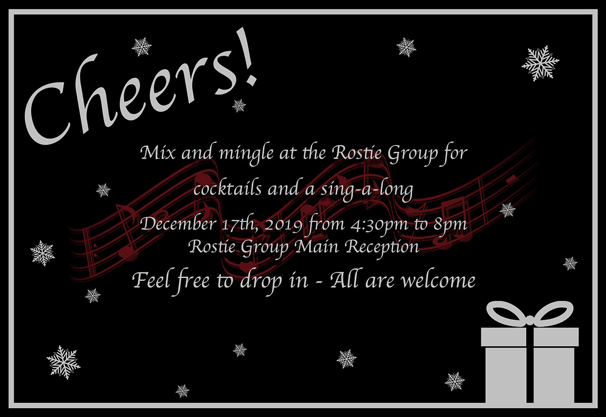Rostie Group Holiday Party Invitation