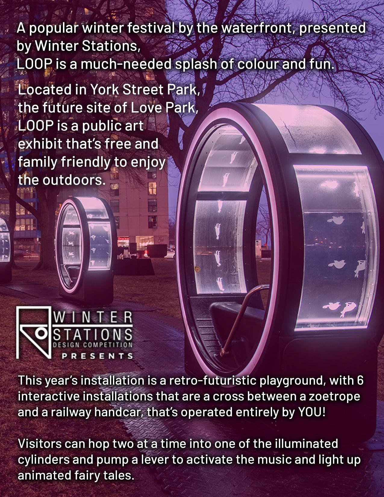Rostie Group Scoop LOOP Art installation